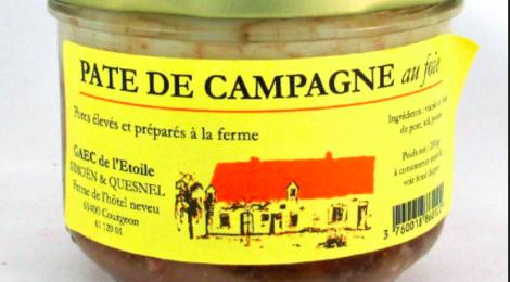 Ferme de l'Etoile, pâté de campagne au foie