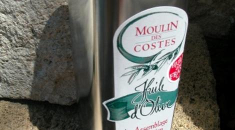 moulin des Costes, huile d'olive fruité noir