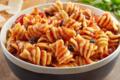 Tournettes, sauce tomate maison ail, basilic et olives noires