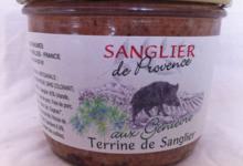 Sanglier de Provence,  Terrine de Sanglier au Genièvre
