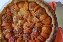 Tarte polenta aux abricots