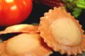 ravioli tomate confite aubergine