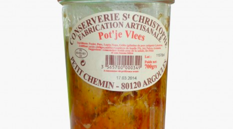 "conserverie Saint Christophe, Pot ""Je vlees"""