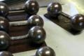 Chocolaterie Artisanale des Bauges, haltères en chocolat