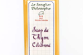 Le Sanglier Philosophe, Sirop de thym citronné