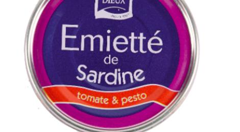 Emietté de sardine, tomate et pesto