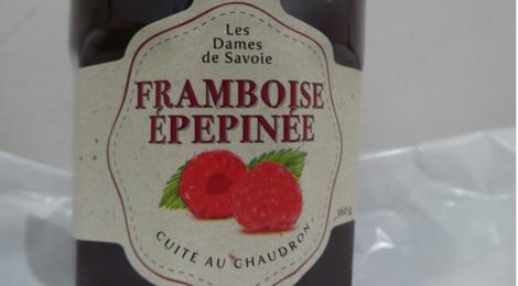 Les dames de Savoie, confiture de framboise épépinée
