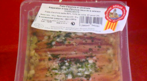 Anchois Roque, Filets d'anchois en Persillade