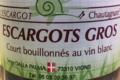 L'escargot Chautagnard, escargots court-bouillonnés au vin blanc