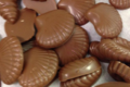 coquillages en chocolat