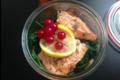 Les bocaux d'Hélène, Gratin de saumon,épinard,créme,oseille,persil,ail Chévre fermier