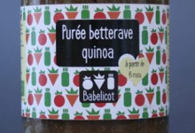 Babelicot, Purée de betteraves et de quinoa