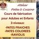 ATELIER PATES FRAICHES - RAVIOLIS
