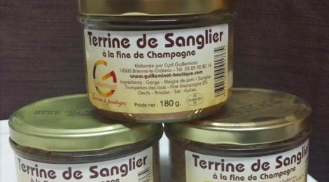 Maison Guillemot, Terrine de Sanglier Champignons Noir et Fine de Champagne