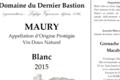 Domaine Du Dernier Bastion, VDN AOP Maury blanc