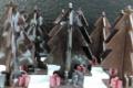 Patisserie Oster, sapins de Noël en chocolat