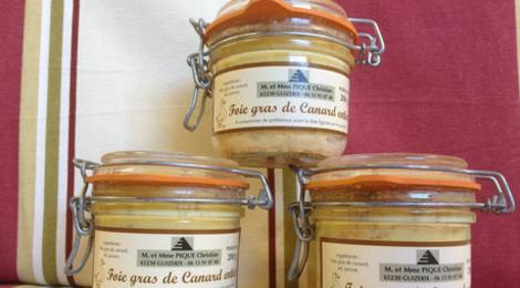 Earl des Parribets, foie gras Pique, Foie Gras entier de canard