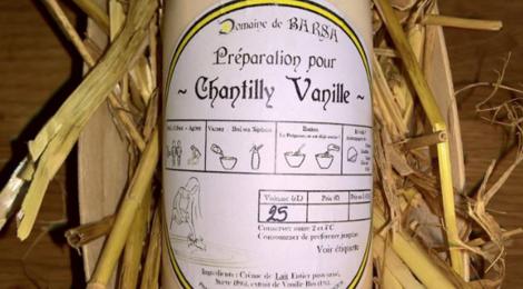 Domaine de Barsa, préparation pour Chantilly vanille