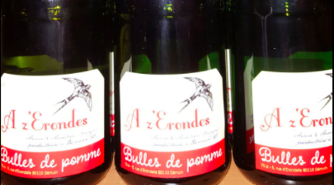 """Cidrerie """"A z' Erondes"""". bulles de pommes"""