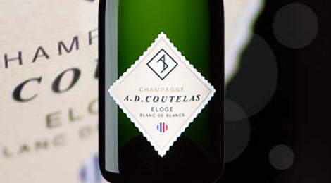 Champagne AD Coutelas. Eloge blanc de blancs
