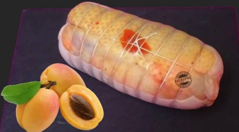 Héripré.  rôti de Canard farci aux Abricots