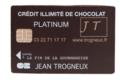 Jean Trogneux. Carte bancaire chocolat