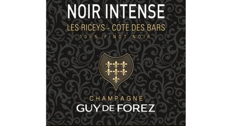 Champagne Guy de Forez. Champagne Noir Intense