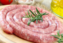 """La Ferme """"Au Cochon Gourmet"""". Saucisse fraîche aux herbes"""