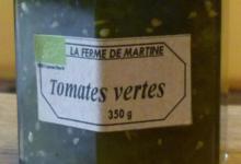 La Ferme de Martine. Tomates vertes
