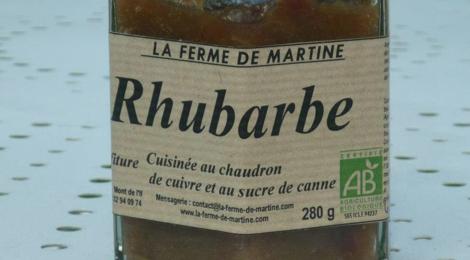 La Ferme de Martine. Rhubarbe