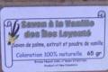 Distillerie de Nessadiou. savon à la vanille des îles Loyauté