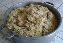 Mitic Traiteur. Riz aux légumes/poulets...