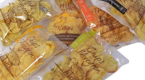 Les Chips de l'Aveyron. Chips roquefort au chaudron