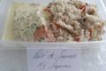 Pêcheries Paturel « La Boucanière ». Pavé de saumon, riz, légumes