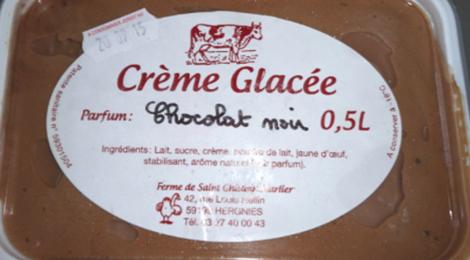 Ferme de Saint Ghislain Marlier. Crème glacée chocolat noir