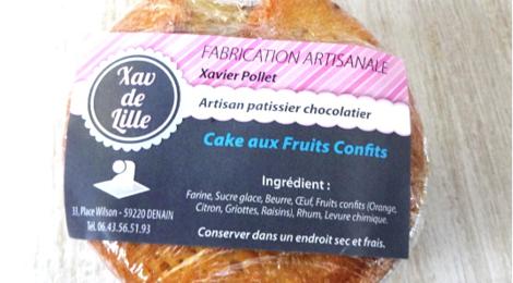 Xav de Lille. Mini cake aux fruits confits