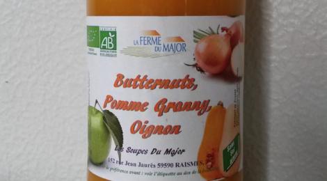 La ferme du major. Soupe bio butternut granny oignon